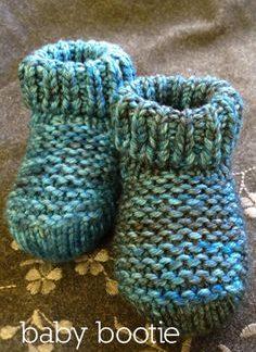 woolen bootie in reverse knit