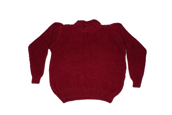 Moss knit woolen sweater