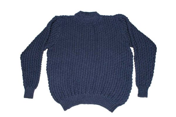 Moss knit sweater in pure wool