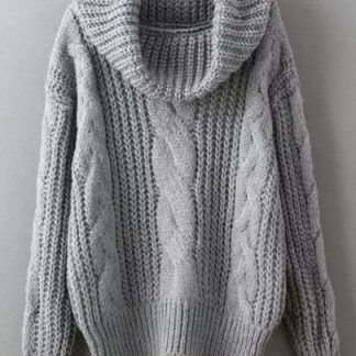 cowl-neck -cable-sweater