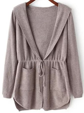 Long cardigan with full sleeve in jersey knit