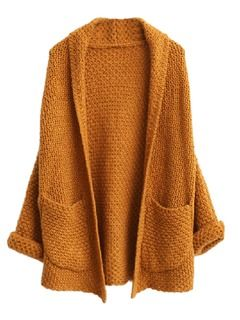 Over-sized fall cardigan in full sleeve