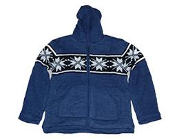 Woolen hoodie with inner lining