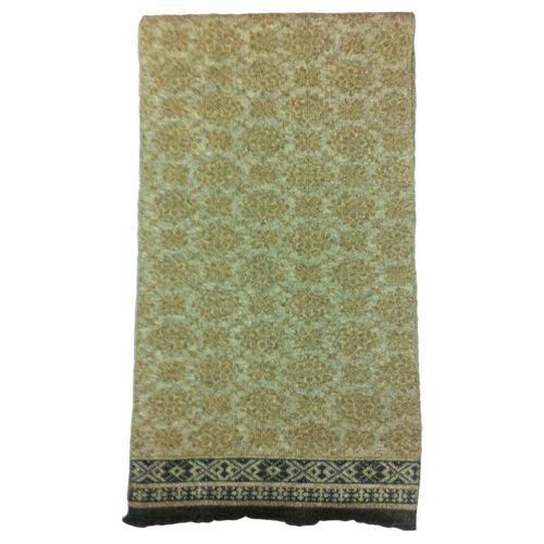 Cashmere Tibetan motif Jaquard knit Scarf