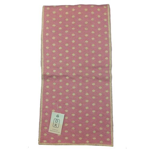 Cashmere Polka Dot Scarf in pink