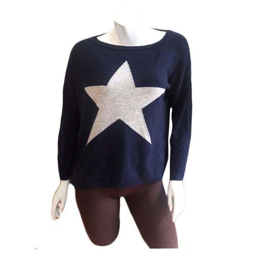 Pashmina Star Intarsia Design Sweater in ful sleeve