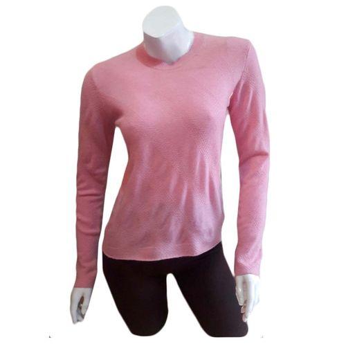 Ladies Pink Pashmina Sweater in Full Sleeve