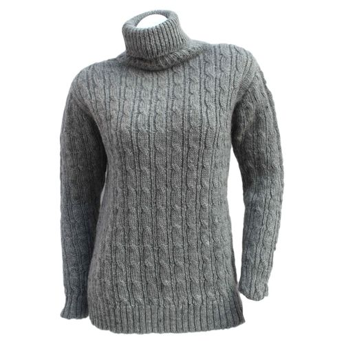 High Neck All cable Woolen Sweater in full sleeve