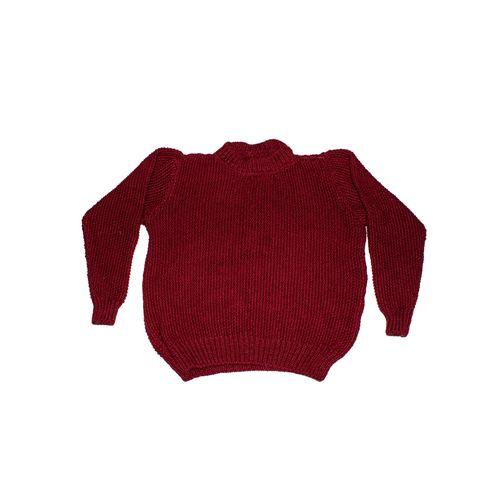 Moss knit woolen sweater in full sleeve