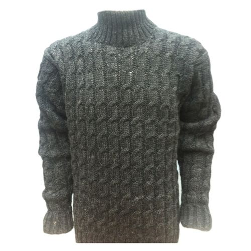 Woolen All Cable Pullover in High Neck