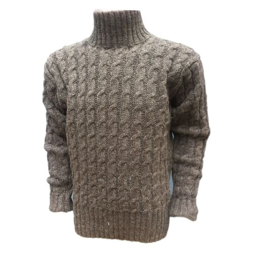 Woolen all Cable Pullover in High