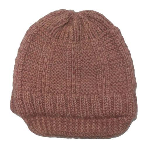 Pink woolen benny hat