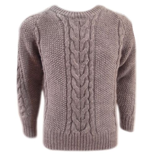 Woolen Moss Cable Sweater in Full Sleeve