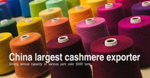 Colored pashmina yarn from China